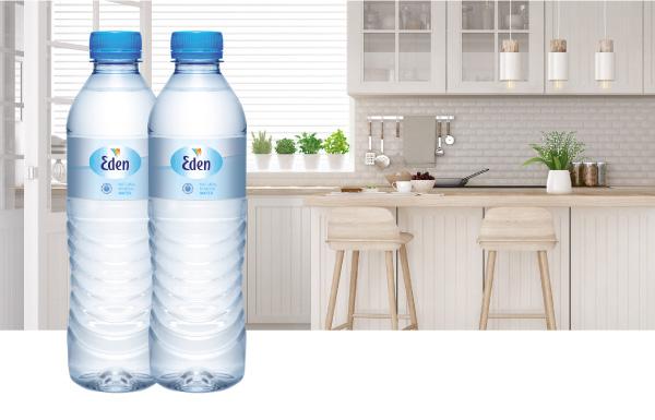 Frisk og lækker Eden vand på flaske